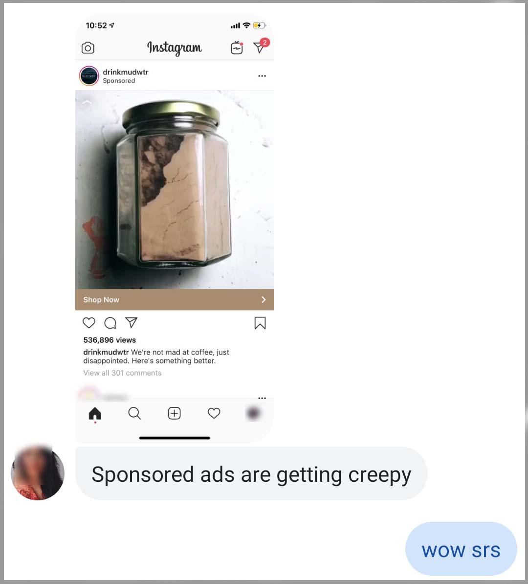 MUDWTR mud creepy Facebook ads