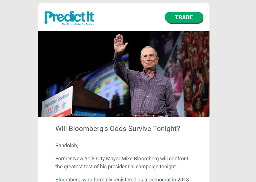 PredictIt newsletter