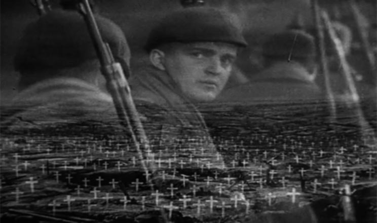 All Quiet on the Western Front 1930 film screenshot.